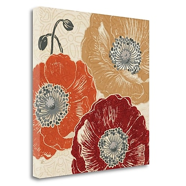 Tangletown Fine Art 'A Poppys Touch III' Graphic Art Print on Wrapped Canvas; 25'' H x 25'' W