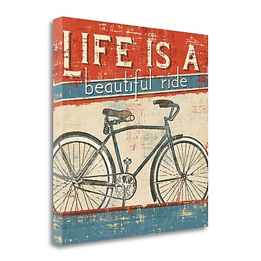 Tangletown Fine Art 'Beautiful Ride I' Vintage Advertisement on Wrapped Canvas; 25'' H x 25'' W