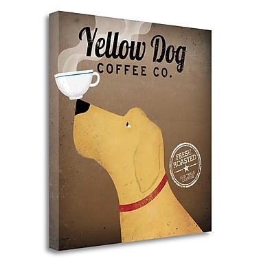 Tangletown Fine Art 'Yellow Dog Coffee Co' Vintage Advertisement on Wrapped Canvas; 20'' H x 20'' W
