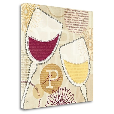 Tangletown Fine Art 'Wine Script I' Textual Art on Wrapped Canvas; 24'' H x 24'' W