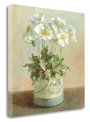 Tangletown Fine Art 'Tres Chic Poppies' Print on Wrapped Canvas; 24'' H x 24'' W