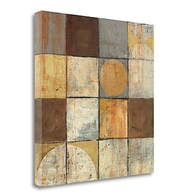 Tangletown Fine Art 'Tango Square II Neutral' Graphic Art Print on Wrapped Canvas; 24'' H x 24'' W