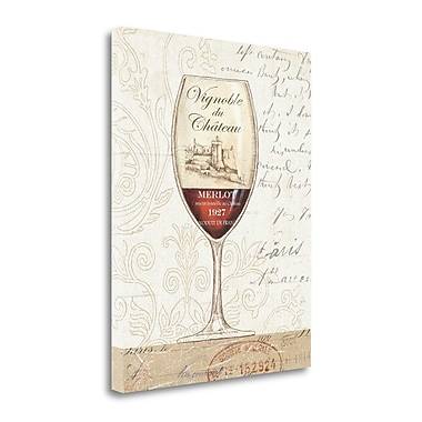 Tangletown Fine Art 'Wine by the Glass II' Vintage Advertisement on Wrapped Canvas; 28'' H x 22'' W