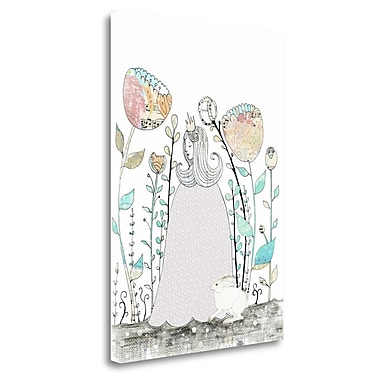 Tangletown Fine Art 'Princess And The Rabbit' Graphic Art Print on Canvas; 29'' H x 21'' W