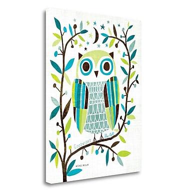 Tangletown Fine Art 'Night Owl II' Graphic Art Print on Wrapped Canvas; 28'' H x 22'' W