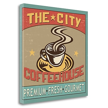 Tangletown Fine Art 'Coffeehouse I' Vintage Advertisement on Wrapped Canvas; 24'' H x 24'' W