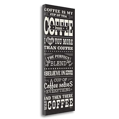 Tangletown Fine Art 'Coffee Lovers I' Vintage Advertisement on Wrapped Canvas; 40'' H x 16'' W