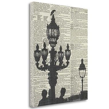 Tangletown Fine Art 'Architectural Paris III Crop' Graphic Art Print on Wrapped Canvas