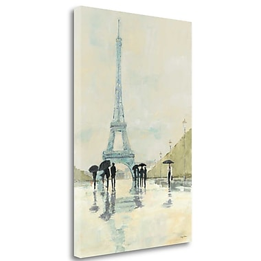 Tangletown Fine Art 'April in Paris' Print on Wrapped Canvas; 48'' H x 32'' W