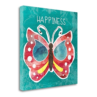 Tangletown Fine Art 'Boho Butterfly Happiness' Graphic Art Print on Wrapped Canvas; 20'' H x 20'' W