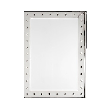 WorldsAway Nickel Plated Studded Accent Mirror