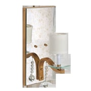 WorldsAway Antiqued Mirror 1-Light Armed Sconce