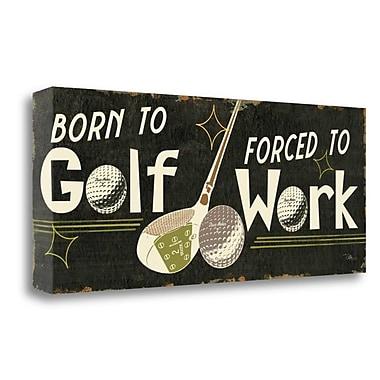 Tangletown Fine Art 'Funny Golf III' Textual Art on Canvas; 12'' H x 28'' W