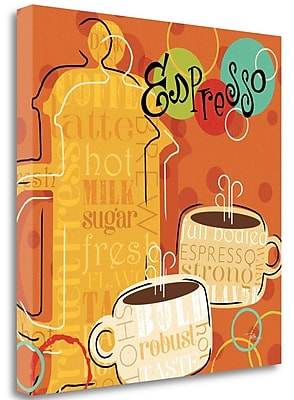 Tangletown Fine Art 'Funky Brew I' Graphic Art Print on Wrapped Canvas; 20'' H x 20'' W