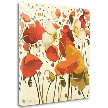 Tangletown Fine Art 'Coral Confetti' Print on Wrapped Canvas; 30'' H x 30'' W