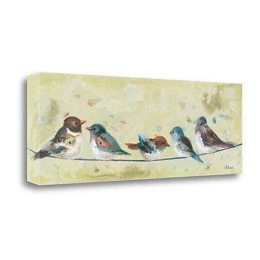 Tangletown Fine Art 'Five on a Wire' Print on Canvas; 34'' H x 12'' W
