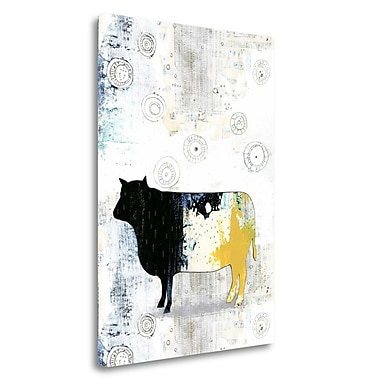 Tangletown Fine Art 'Cow' Graphic Art Print on Wrapped Canvas; 29'' H x 21'' W