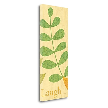 Tangletown Fine Art 'Nature Trio Laugh' Graphic Art Print on Wrapped Canvas; 32'' H x 13'' W