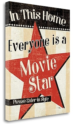 Tangletown Fine Art 'In this Home Everyone is a Star' Vintage Advertisement on Wrapped Canvas