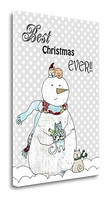 Tangletown Fine Art 'Best Christmas Ever' Graphic Art Print on Wrapped Canvas; 48'' H x 34'' W