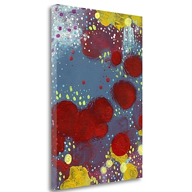 Tangletown Fine Art 'Big Red Flowers Abstract' Graphic Art Print on Wrapped Canvas; 39'' H x 28'' W