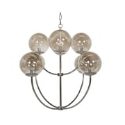 WorldsAway Two-Tier 8-Light Candle-Style Chandelier; Nickel