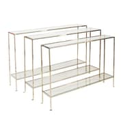 WorldsAway Console Table; Nickel Plated