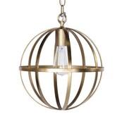 WorldsAway 1-Light Globe Pendant; Gold