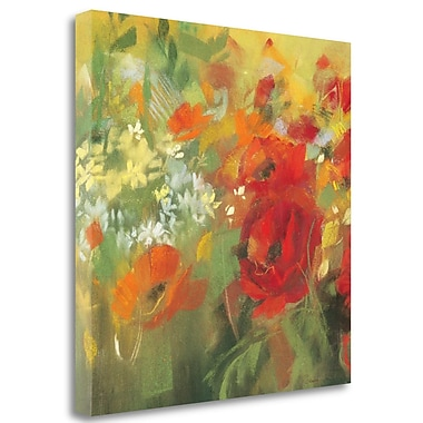Tangletown Fine Art 'Oriental Poppy Field II' Print on Wrapped Canvas; 25'' H x 25'' W