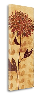 Tangletown Fine Art 'Sarahs Garden I in Orange' Graphic Art Print on Wrapped Canvas; 32'' H x 13'' W