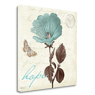Tangletown Fine Art 'Touch of Blue III Hope' Graphic Art Print on Wrapped Canvas; 20'' H x 20'' W