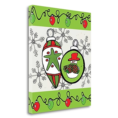 Tangletown Fine Art 'Christmas Ornaments Cheer III' Graphic Art Print on Wrapped Canvas