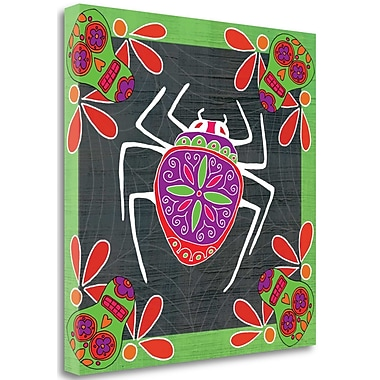 Tangletown Fine Art 'Day of The Dead Spider II' Graphic Art Print on Wrapped Canvas; 18'' H x 18'' W