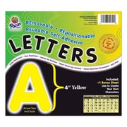 Pacon Creative Products Self-Adhesive Letters, 4'', 78 Characters, Yellow
