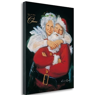 Tangletown Fine Art 'Mr. and Mrs. Claus' Print on Wrapped Canvas; 28'' H x 22'' W