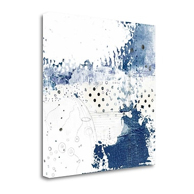 Tangletown Fine Art 'Navy Abstract III' Graphic Art Print on Canvas; 18'' H x 18'' W