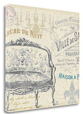 Tangletown Fine Art 'Victorian Vintage III' Graphic Art Print on Wrapped Canvas; 24'' H x 24'' W