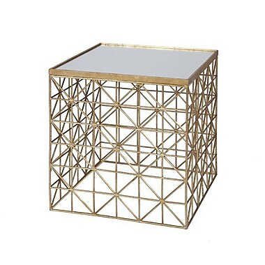 WorldsAway Occasional End Table; Gold
