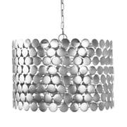WorldsAway Dot 3-Light Drum Pendant; Silver
