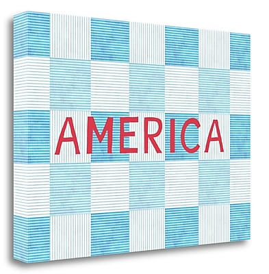 Tangletown Fine Art 'America' Textual Art on Wrapped Canvas; 20'' H x 28'' W