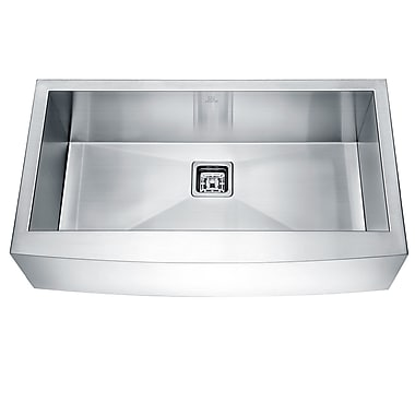 ANZZI Elysian Stainless Steel 36'' x 21'' Farmhouse Kitchen Sink w/ Drain Assembly