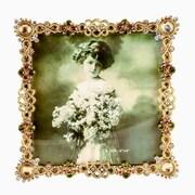 Astoria Grand Black Velvet Back Decorative Picture Frame