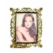 Astoria Grand Hand Painted Green Enamel Picture Frame
