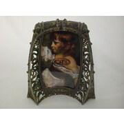 Astoria Grand Antique Brass Picture Frame