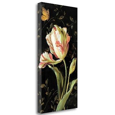 Tangletown Fine Art 'Jardin Paris Florals II' Print on Wrapped Canvas; 48'' H x 24'' W