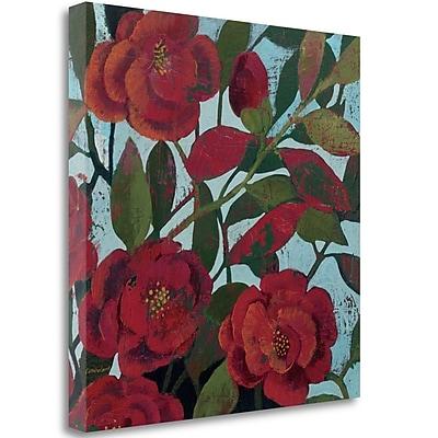 Tangletown Fine Art 'Abundant Roses II in Blue' Print on Wrapped Canvas; 24'' H x 24'' W