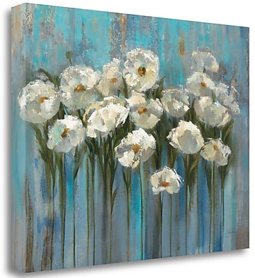 Tangletown Fine Art 'Anemones by the Lake' Print on Wrapped Canvas; 28'' H x 36'' W