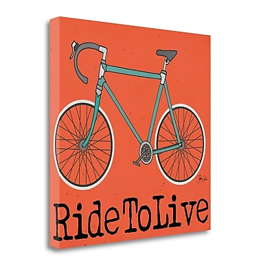 Tangletown Fine Art 'Ride To Live' Graphic Art Print Print on Canvas; 20'' H x 20'' W