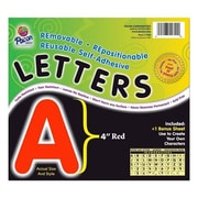 Pacon Creative Products Self-Adhesive Letters, 4'', 78 Characters, Red