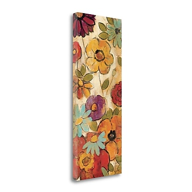 Tangletown Fine Art 'Floral Sketches on Linen I' Print on Canvas; 48'' H x 16'' W